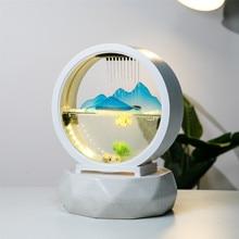 Tabletop Feature Mountain View Waterfall Cascade Indoor Decoration Aquarium Humidifier Mist Maker Zen Meditation fish tank