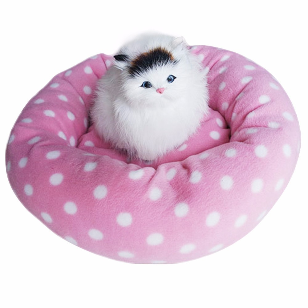 Pet Nest Dog Fall and Winter Warm Nest Kennel For Cat Puppy Rounded and Dotted Pet Mat Pet Nest Pet Dog Bed Warming Dog House