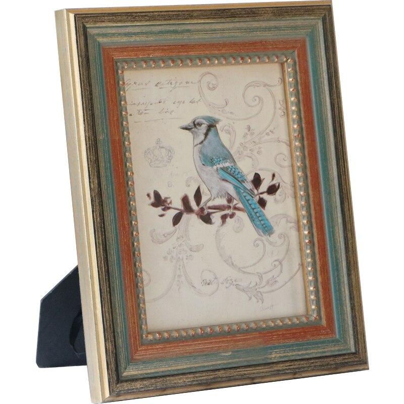 1 pçs clássico moldura de madeira do vintage dourado/tira 3-10 polegada quadros de quadro de mesa para o corredor de mesa decoração de casa marcos de foto
