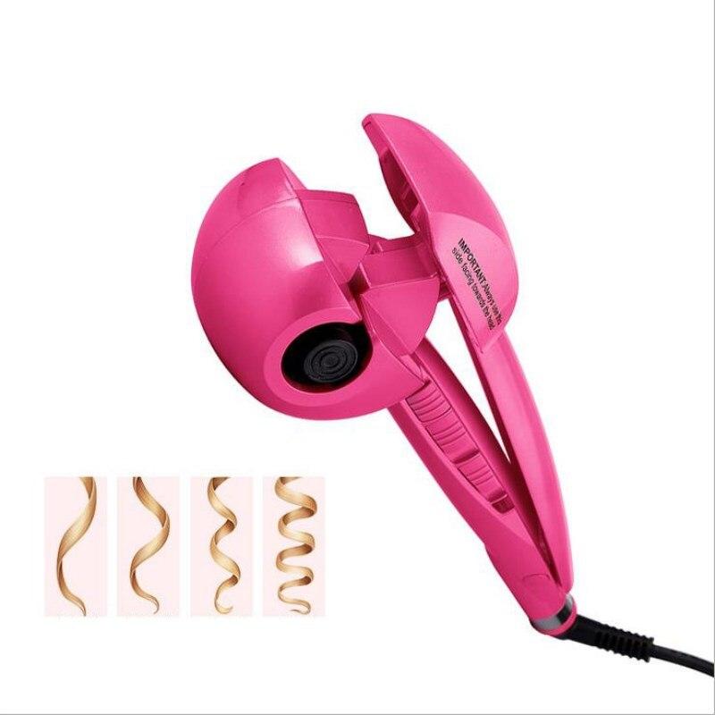 Nuevo rizador de pelo de vapor de Spray automático rizadores de pelo Digital, plancha de rizado de cabello profesional rulos pelo herramientas 110-240 V