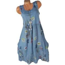 5xl kobiet sukienka duży rozmiar lato plaża sukienka 2019 moda bez rękawów drukuj floral panie sukienki na co dzień wieczór sukienka letnia 5