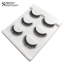 SHIDISHANGPIN 1 box 3d mink lashes hand made makeup false eyelash natural long full strip X05