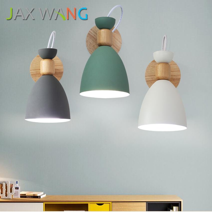 Moderne simple macarons E27 mur LED lampe pour chambre chevet TV couloir allée cuisine luminaire toilette lumière décoration