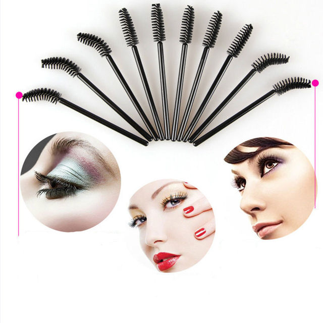 Hot 50pcs Replaceable Eyelash Brush Quickly Extended Eye Lash Curler Accessories
