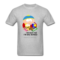 Funny T Shirts Man Hip Hop Cartoon South Park I'M NOT FAT I'M BIG BONED Round Neck Short Sleeved Tee tShirts 2018 Male T-Shirts