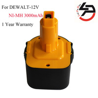 12V 3000mAh Ni MH Battery Replacement Power Tools Batteries Cordless Drill For Dewalt DE9071 2802K DE9074