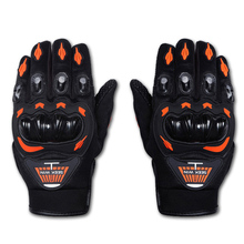 Hot Sale Men Motorcycle Gloves Full Finger Motocross Guantes Red Green Orange Colors Moto Protective Gears Glove Free Shipping