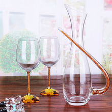 2PCS/set Creative Crystal Red Wine glass Cup Diamond heart-shaped goblet champagne glasses wedding flutes home decor Drinkware