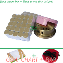 Wholesale & Retail Traditional moxibustion tool beauty health moxa set box & high quality stick gift chart & bag