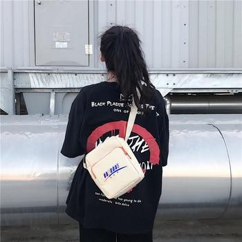 Ins super fire Harajuku style hip hop small bag vintage street popular  male and female students cross body shoulder bag