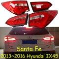 Luz traseira IX45, Santa Fe, 2013 ~ 2016, Livre O navio! LED, 4 pçs/set, traseira IX45 luz, luz IX45 nevoeiro; Tucson, Santa Fe IX45