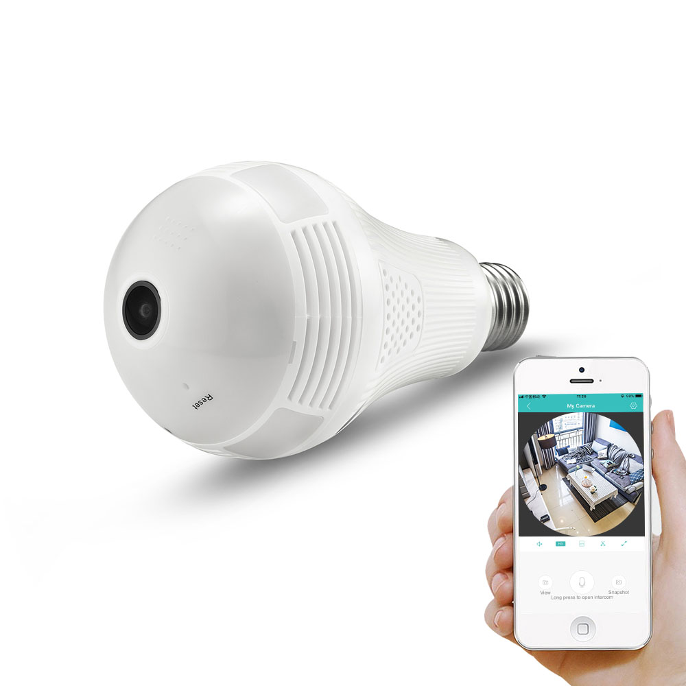 BESDER 960P Wireless Panoramic IP Camera 2/3MP 360 Degree 3D VR Bulb Light FishEye WIFI Surveillance CCTV Home Security Mini Cam ρολογια τοιχου κλασικα ξυλου