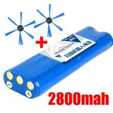 عالية الجودة 14.8 فولت 2800 مللي أمبير 18650 بطارية ليثيوم أيون الجانب فرشاة ل فيليبس الروبوتات مكنسة كهربائية FC8820 FC8810 مكنسة كهربائية