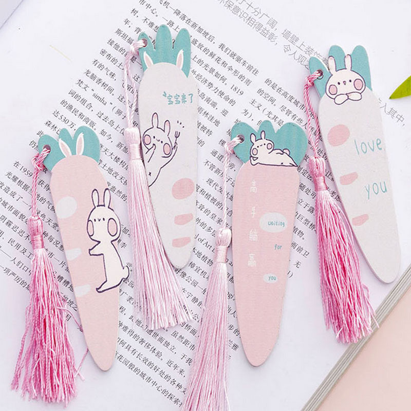 Cartoon Carrot Rabbit Tassel Ruler Office Painting Supplies  Student Painting Supplies Kids Gift Learning Stationery