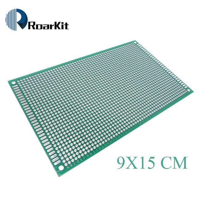 1 STÜCKE 9x15 cm PROTOTYP PCB 2 schicht 9*15 CM panel Universal Brett beidseitig 2,54 MM