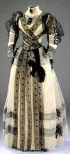 Half mourning dress Medieval Clothing Victorian dress satin dress