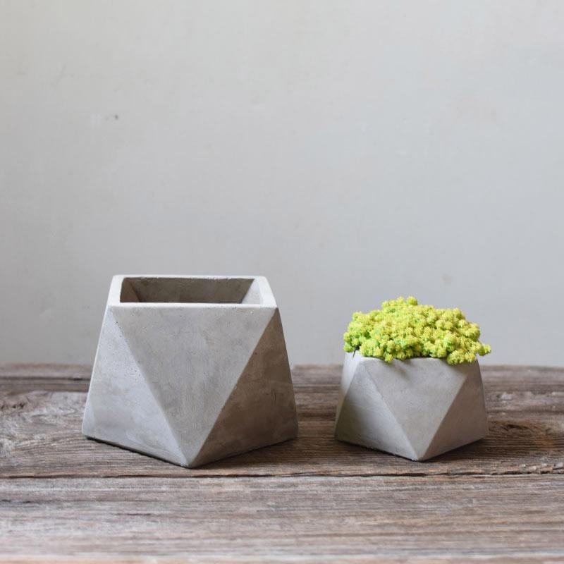 Көпфункционалды геометриялық бетон ағыны силиконды пішіндер балабақшадағы суккулентті өсімдік цемент өсіретін құты