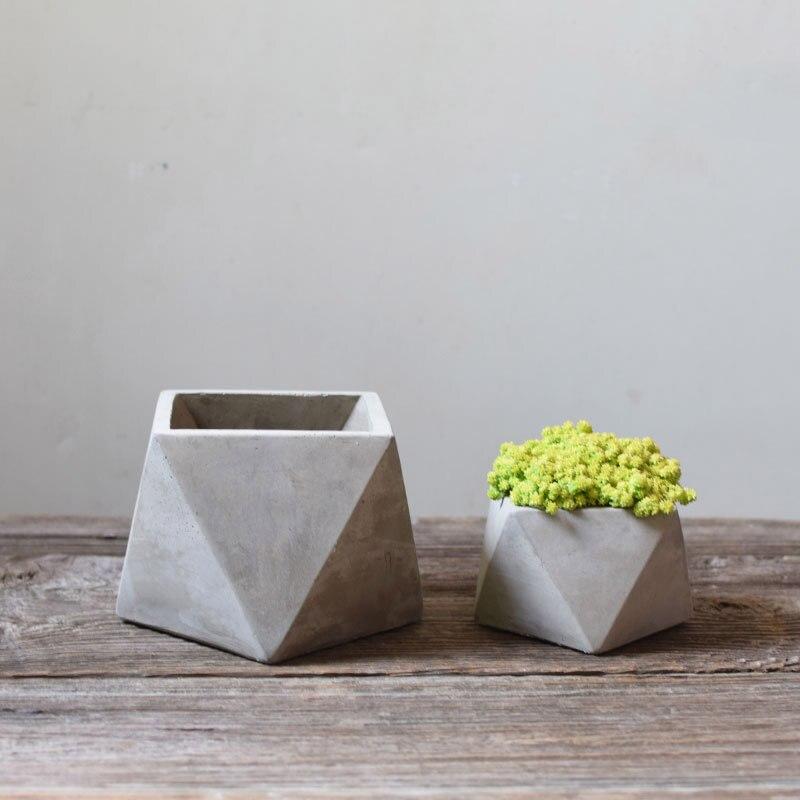 Мулти облика геометријски бетон флове рпот силиконски калупи сочан плантер цемент цвет лонац калуп за башту