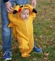 Новорожденного малыша высокое качество Девочка Мальчик Pokemon идти золы hallloween Пикачу Комбинезон Комбинезон Костюмы Косплей Костюм