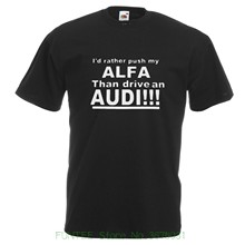 Men's High Quality Tees Alfa Romeo T Shirt Funny Alfa Alfasud Gta 155 156 147 Gt Gtv 75 Tee Gift Dad