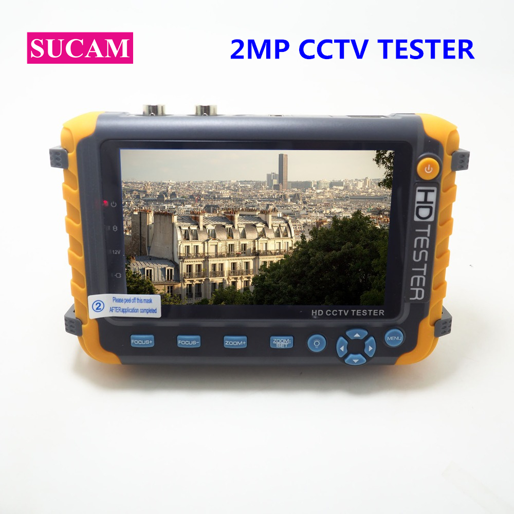 SUCAM 2MP 4 IN 1 CCTV Camera Tester For 720P 960P 1080P AHD CVI,TVI CVBS Camera Audio Video Test With 5 Inch LCD Screen Monitor
