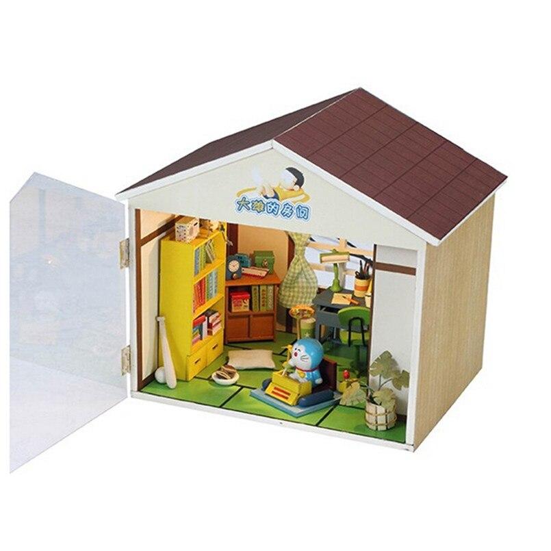 Miniature Dollhouse Furniture Diy Wooden Wooden Doll House Nobita 39 S Room Dolls