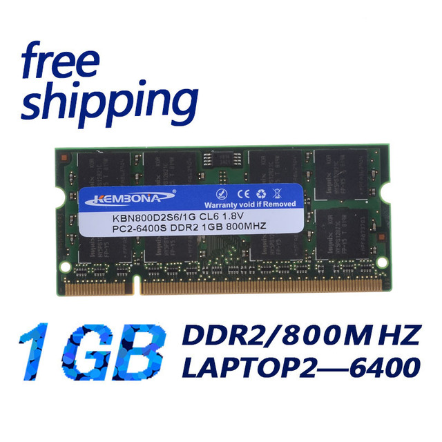 KEMBONA al por mayor a granel de memoria sodimm Ram Laptop DDR2 1 GB 667 MHz Non-ECC ETT grado chipset soporte Intel + A-M-D