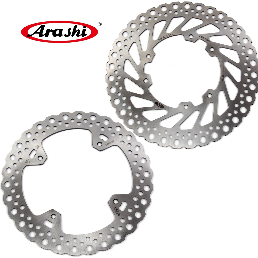 ARASHI For HONDA HM CRF450R Front Rear Brake Rotors Brake Disc CRF 450R 2004-2014 2005 2006 2007 2008 2009 2010 2011 2012 2013 rear driver passenger side tail light brake lamp for nissan patrol gu 4 5 6 7 8 2005 2006 2007 2008 2009 2010 2011 2012 2016