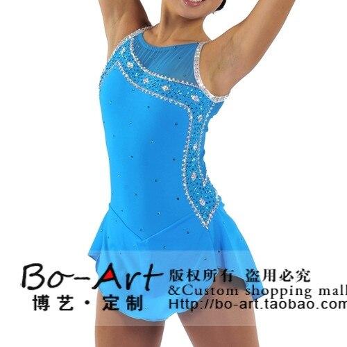 custom figure skating font b dress b font hot sale blue skating tights font b dress
