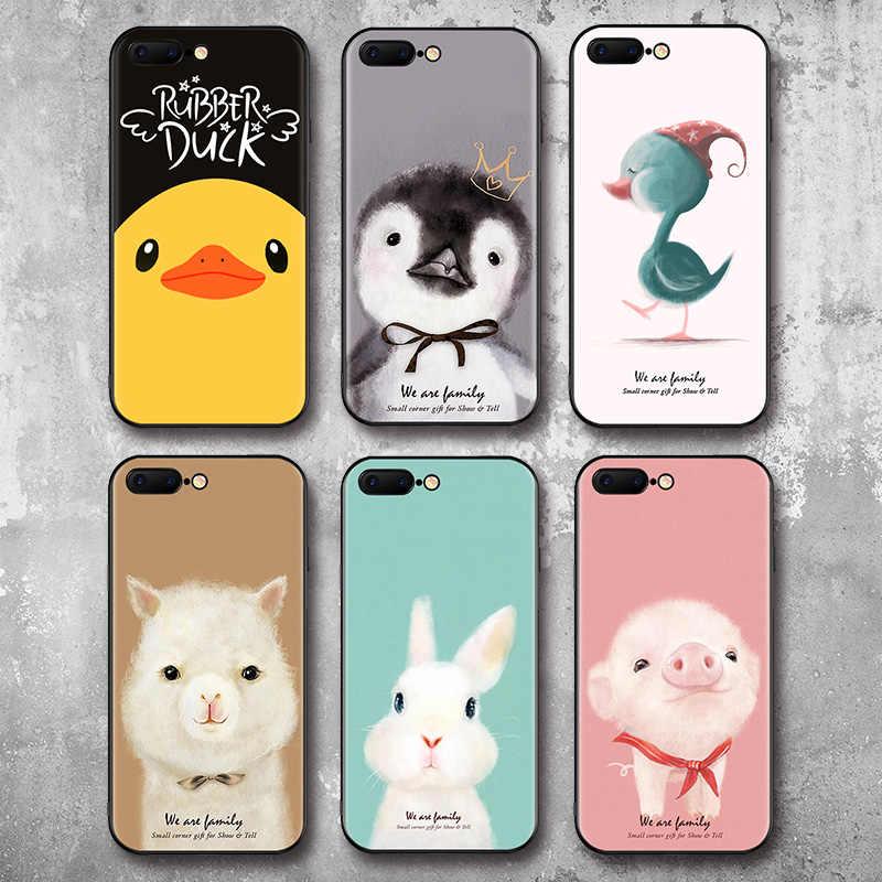 Étui pour animaux IIOZO pour iphone 7 8 6 6s plus dessin pingouin mouton lapin canard pour iPhone 8 coque de protection complète en plastique givré pour iphone 8