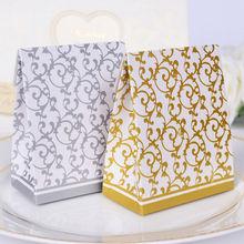 10pcs Creative Golden / Silver Ribbon Wedding Favour