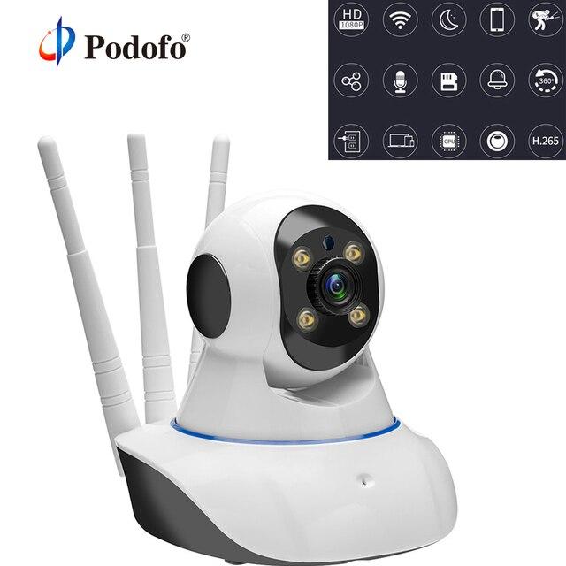 Podofo Home Security 720P Mini IP Camera Baby Monitor Wi-Fi Wireless CCTV Surveillance Camera Night Vision P2P Two Way Audio 1MP