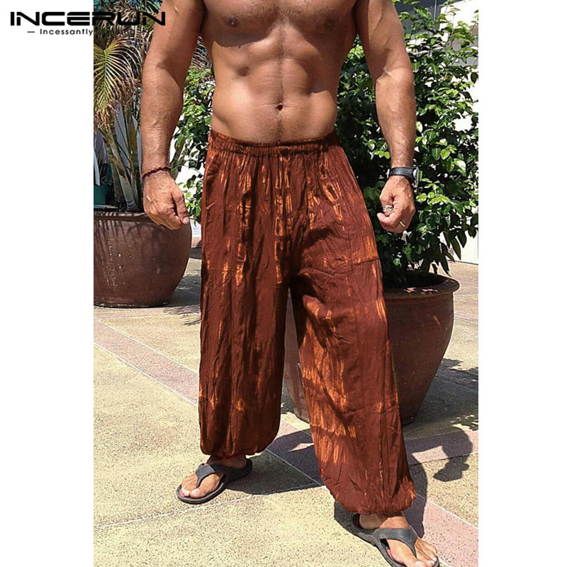 Colorful Men Wide Legs Baggy Pants  1