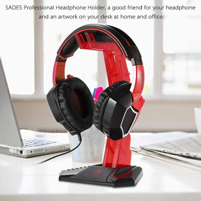 SADES Gaming Headphone Stand Earphone Holder Professional display rack Headset Hanger Bracket for Sony Earphone Accessories