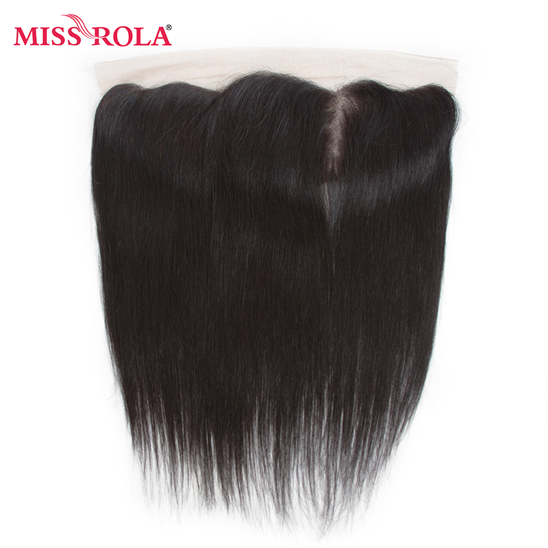 Miss Rola Hair Peruvian Straight 100% Human Hair 3 Bundles With 13 * - Menneskehår (sort) - Foto 4