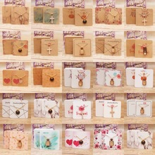 24designs Fashion Jewelry Display Necklace charms package card 50pc kr