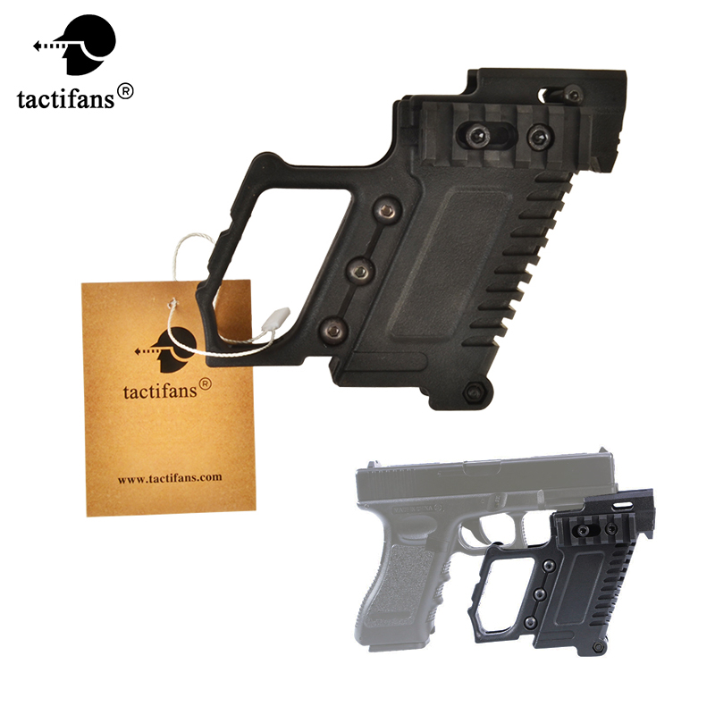 ABS Pistol Carbine Kit Mount W/Rail Panel For WE/Marui G17 G18 G19 GBB Series Compatible with TM & WE G17/18/19/26 & Clone strike systems поясная для m92 g17 18 sti cz steyr