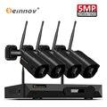 Einnov 5MP Cámara Wifi H.265 sistema de cámaras de CCTV inalámbrico ip sistema de vigilancia de vídeo Kit MP NVR WI FI Camara Wifi seguridad