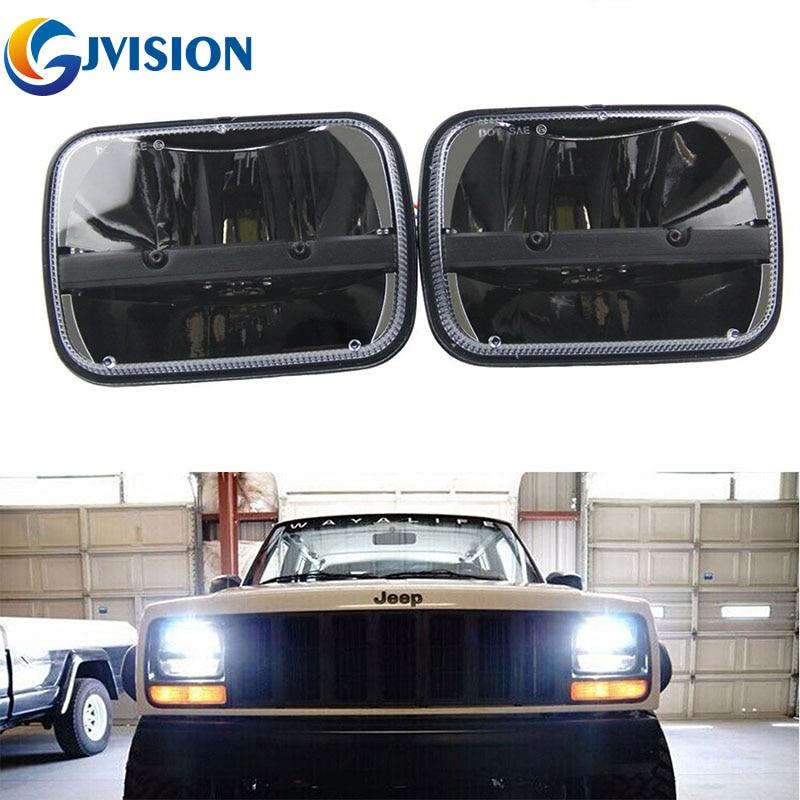 2PCS 5X7 palcový 40W LED světlomet do auta High a Low Deam Beam Square reflektory pro LED světlomety Jeep Cherokee XJ