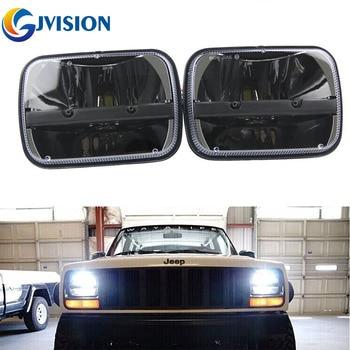 2PCS 5X7 inch 40W LED Car headlight High and Low Dual Beam Square Truck led headlights for Jeep Cherokee XJ Headlamp