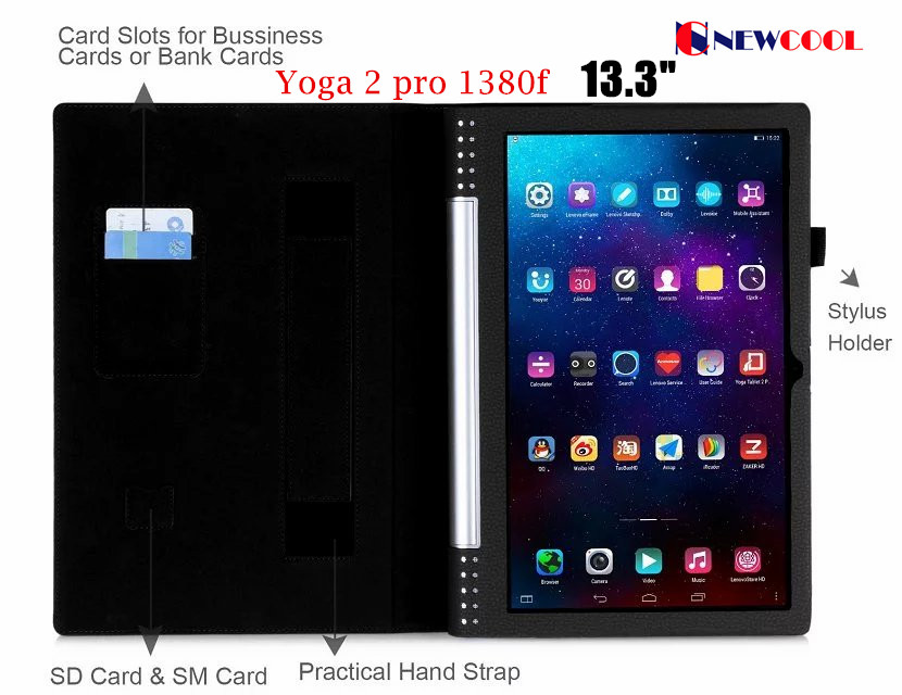 For Lenovo yoga 2 pro 1380F Litchi Leather case cover For Lenovo Yoga tablet 2 Pro 13.3 inch Tablet cover case nokotion original 813968 001 laptop mainboard for hp 15 af abl51 la c781p 813968 501 motherboard full test works