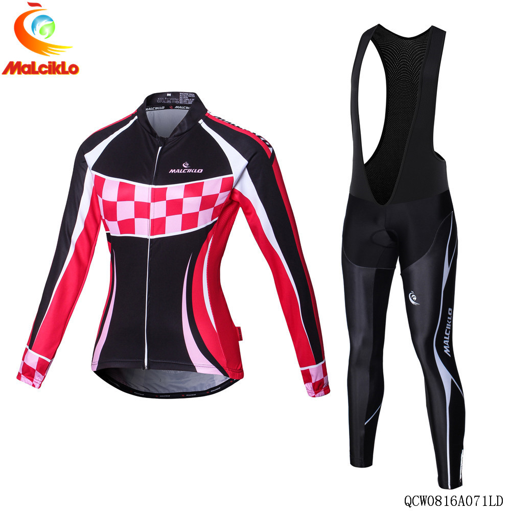 2018 Black&Pink Pro Cycling Jersey Women Autumn Cycling Clothing Bike Wear Maillot Cycling Set Roupa Ciclismo Mujer Suit