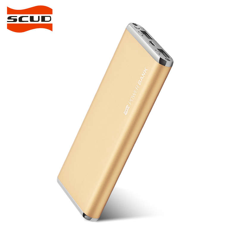 Scud 10000 mah 2a power bank external battery portable charger dual usb 10000mah powerbank m100