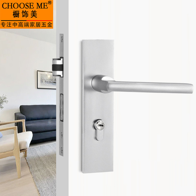 Door Interior Doors Lock Bedroom Ddoor Security Aluminum Lock Indoor Cylinder Hardware Household Universal Indoor Door Lock In Locks From Home