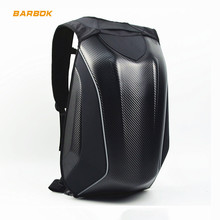 30L Carbon Fiber Motorcycle Helmet Backpack Bag Reflective Motocross Riding Racing Waterproof Motorbike Double Shoulder Back Bag wosawe hard shell motorcycle backpack bag shoulder bag 50l waterproof motorbike trunk carbon fiber motocross racing bags