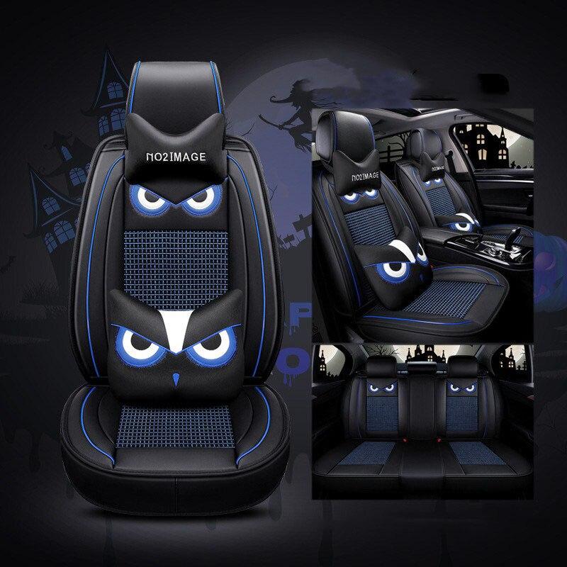 Asiento de coche cubre Ajuste Dacia Sandero-juego completo de Cuero Sintético Negro