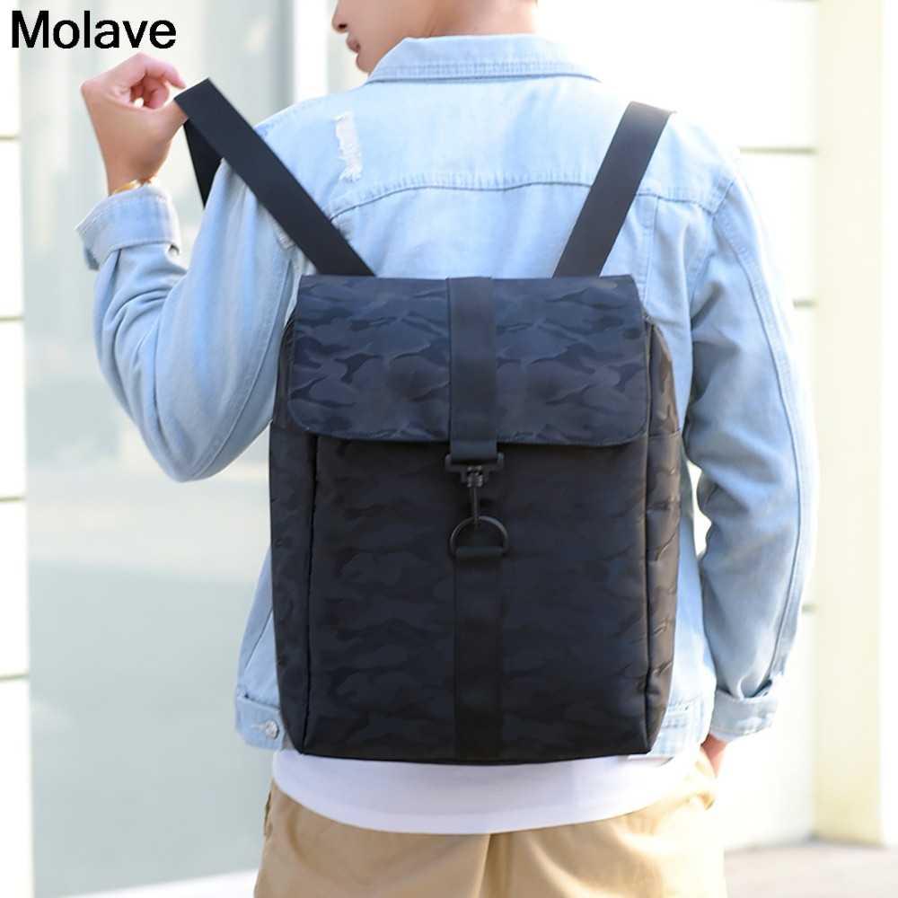 MOLAVE Rucksack Nylon Solide College-Campus Rucksäcke Teenager Schule Taschen Einfache Vielseitig Rucksack Mochilas Taschen 45. dec.30