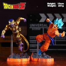 Dragon Ball Z Super Saiyan Son Goku Freeza PVC Action Figures Collectible Model Toys 15cm WU137