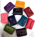 2016 Designer genuine cow leather women coin purse bow tie zipper small purse with coin pocket credit ID card holders