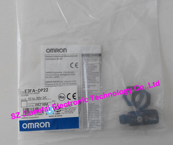 New and original E3FA-DP22  OMRON new and original e3x da11 s omron optical fiber amplifier photoelectric switch 12 24vdc